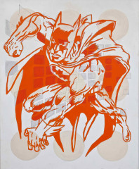 2. Batman  (from the Series Heroes), mixed media, canvas, 100 x 80 cm, 2012