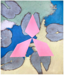 3. Untitled, mixed media, canvas, 150 x 140 cm, 1988, private collection